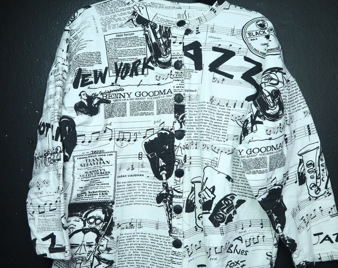 JAZZ vintage 1980s fleece cardigan