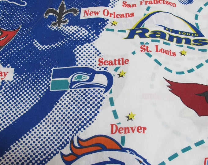 Football NFL Vintage Flat Sheet Twin Bed