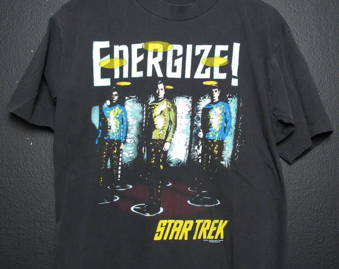 Star Trek Spock Captain Kirk 1993 Vintage Tshirt