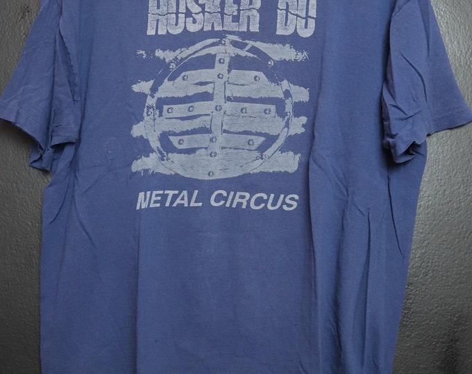 Husker Du Metal Circus 1983 Vintage Tshirt