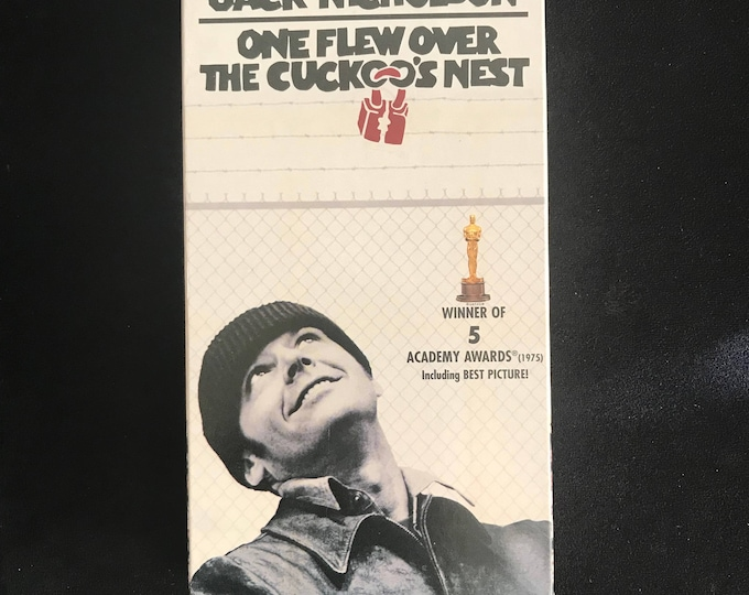 One Flew Over the Cuckoo's Nest 1975 Vintage Movie VHS
