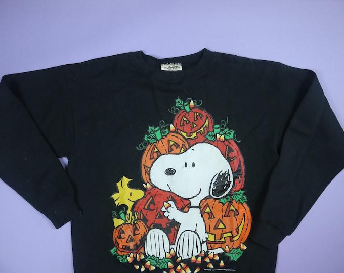 Snoopy & Woodstock Pumpkin Pile Halloween Peanuts Charlie Brown 1990's Vintage Sweatshirt