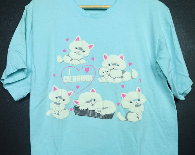 I Love California Cats 1990s vintage Tshirt