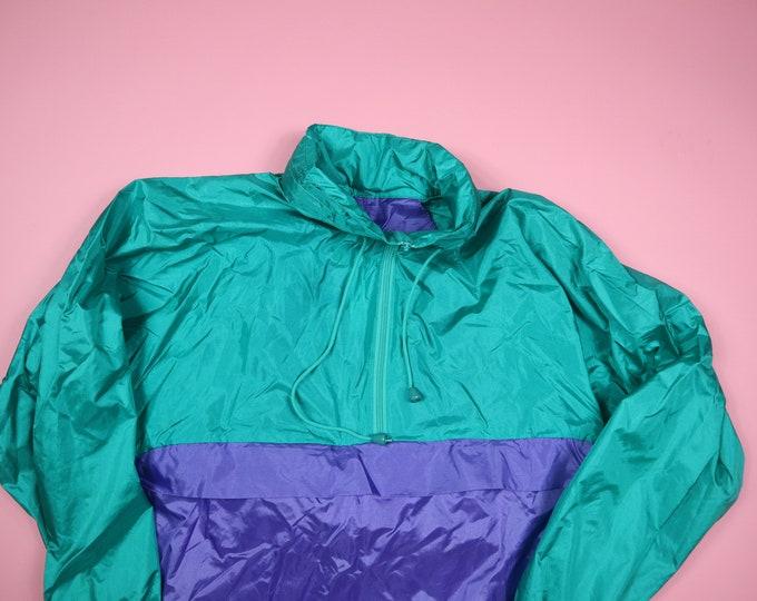 Lady Foot Locker 1990's Vintage Pullover Windbreaker