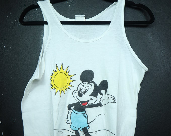 Mickey Mouse at the beach Disney Vintage Tank Top