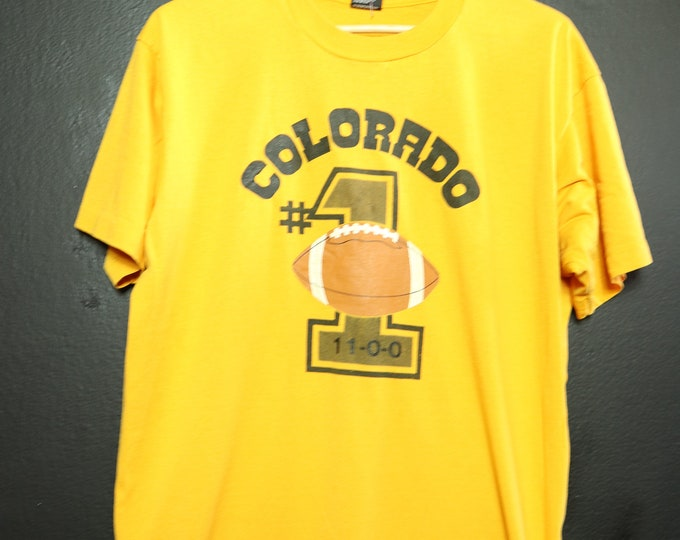 Colorado Football undefeated team 1989 vintage Tshirt