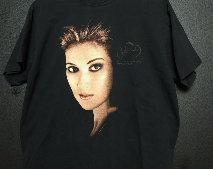 Celine Dion Let's Talk About Love 1990's Vintage Tshirt