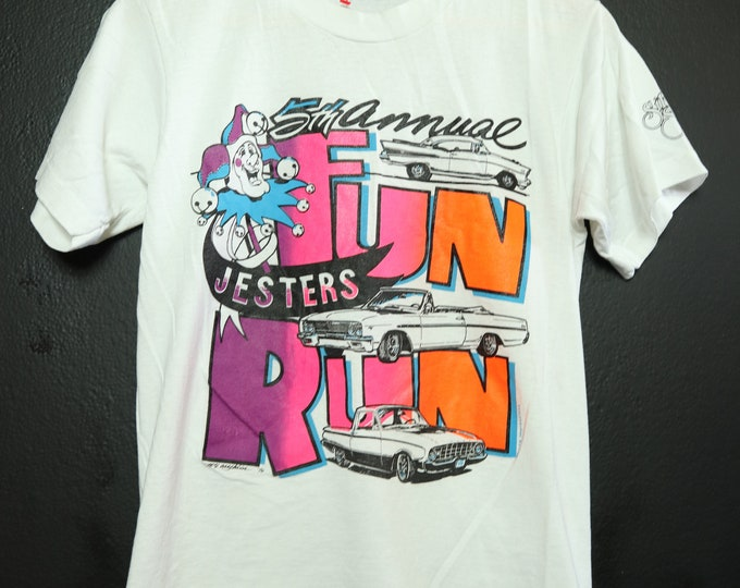 Fun Run Neon 1990 vintage Tshirt