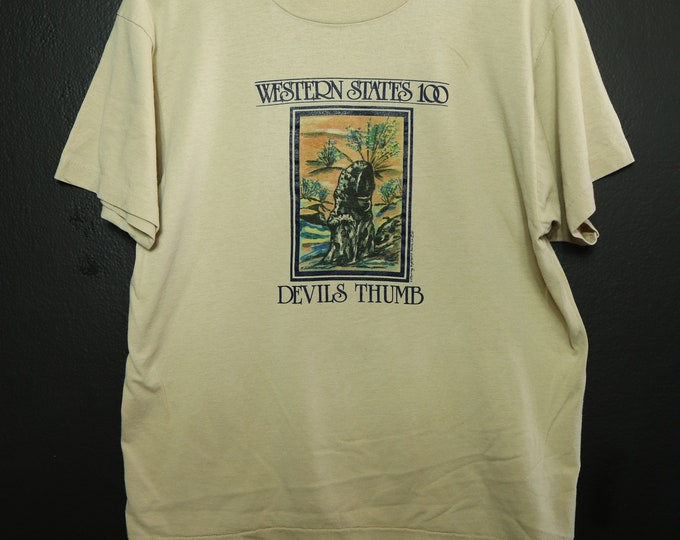Western States 100 Devil's Thumb Vintage Tshirt altitude map