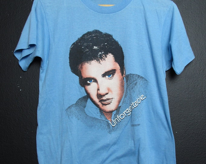 Elvis Unforgetable 1987 Vintage Tshirt