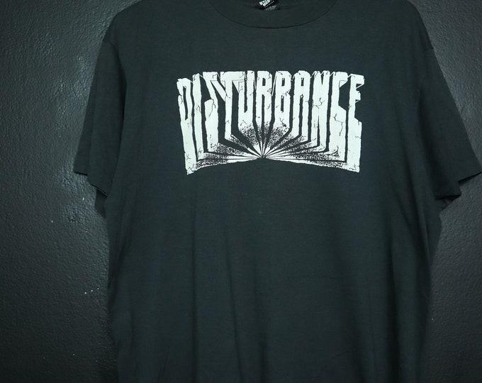 Disturbance Get Disturbed 1980's Vintage Tshirt