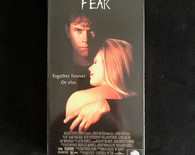 FEAR 1996 Vintage Movie VHS