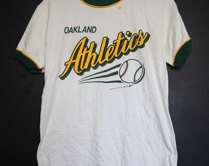 Oakland Athletics MLB 1980s vintage Ringer Tshirt