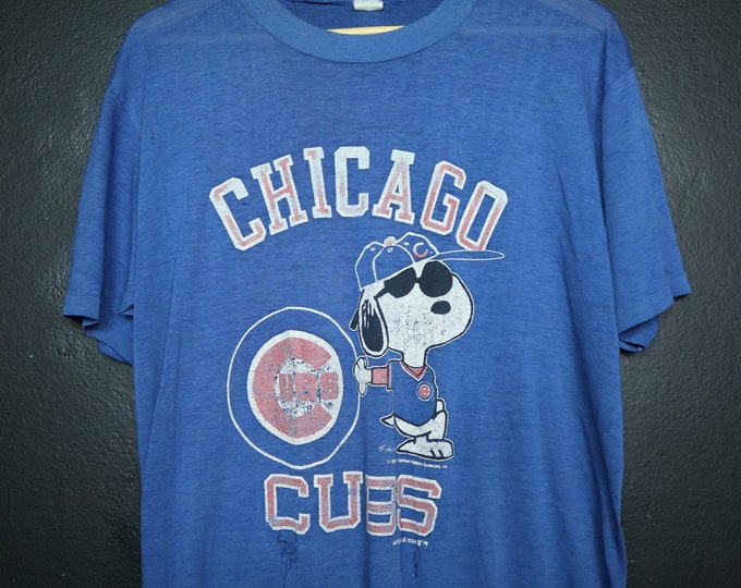 Snoopy Chicago Cubs MLB 1988 Vintage Tshirt