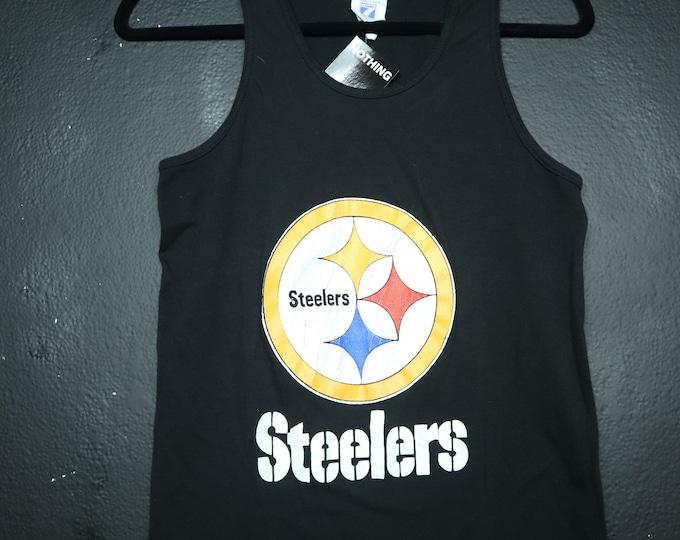 NFL Pittsburgh Steelers Logo 7 brand 1990s vintage Tank Tshirt