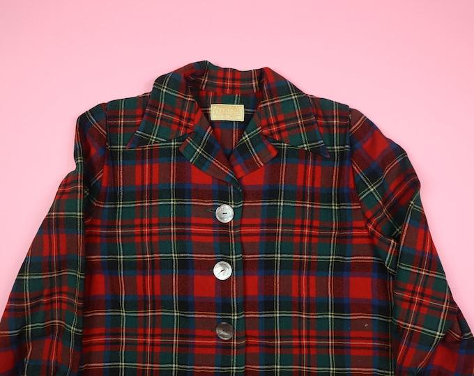 Pendleton Tartan Plaid Vintage Light Jacket