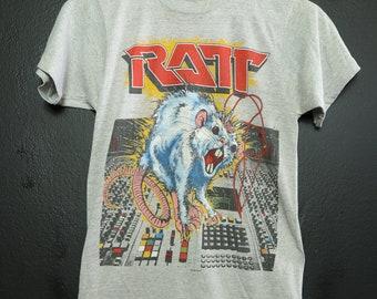 3f6df08331d8 Ratt Ratt N Roll 1984 Vintage Tshirt