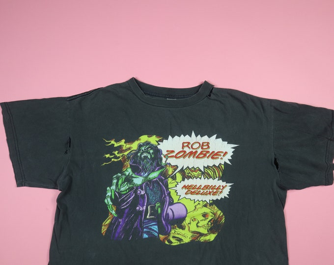 Rob Zombie Hellbilly Deluxe 1998 Vintage Tshirt