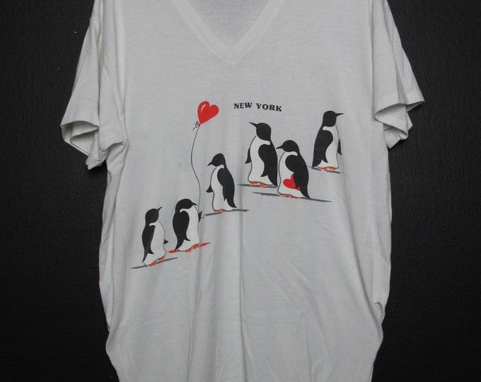 New York City Penguins 1990's vintage Tshirt
