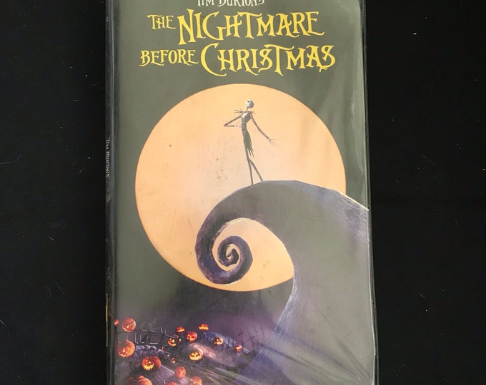 Nightmare Before Christmas Tim Burton 1990's Vintage Movie VHS