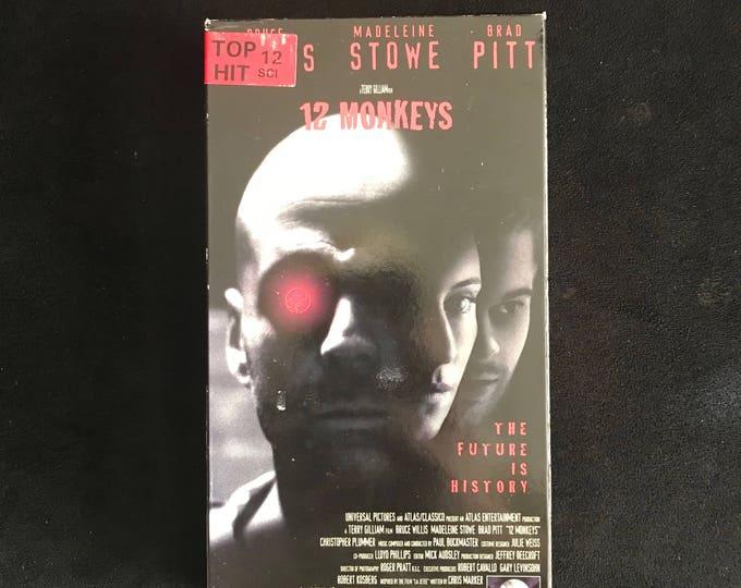 12 MONKEYS 1995 Vintage Movie VHS