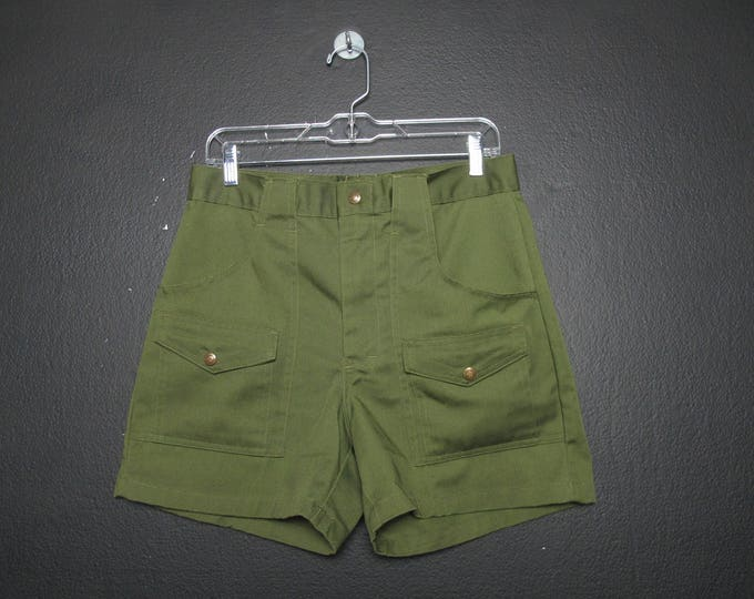 Vintage Boy Scouts Shorts in Army Green