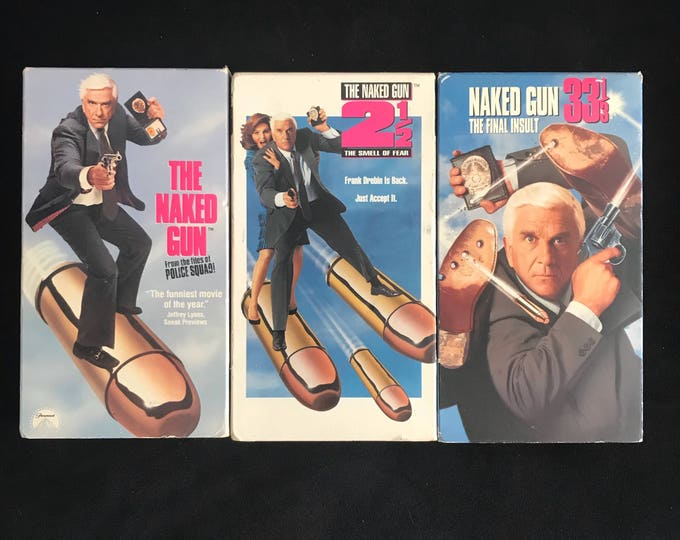 The NAKED GUN Triology 1990's Vintage Movie VHS