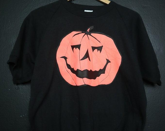 Jack-O-Lantern Halloween Pumpkin 1990s vintage Tshirt