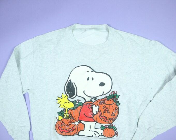 Snoopy Woodstock Pumpkins Halloween Peanuts 1990's Vintage Sweatshirt