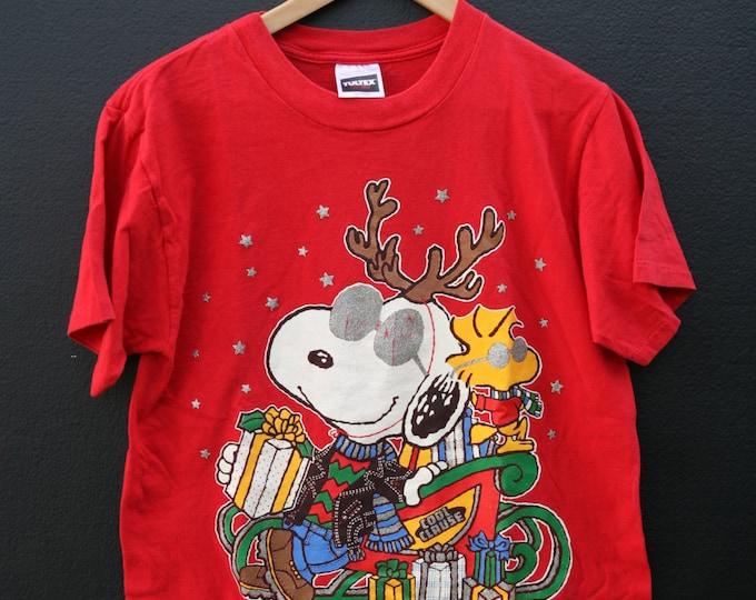 Snoopy Cool Claus Peanuts 1990s vintage Tshirt