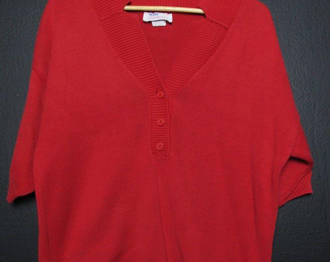 Avon Fashionista vintage red sweater