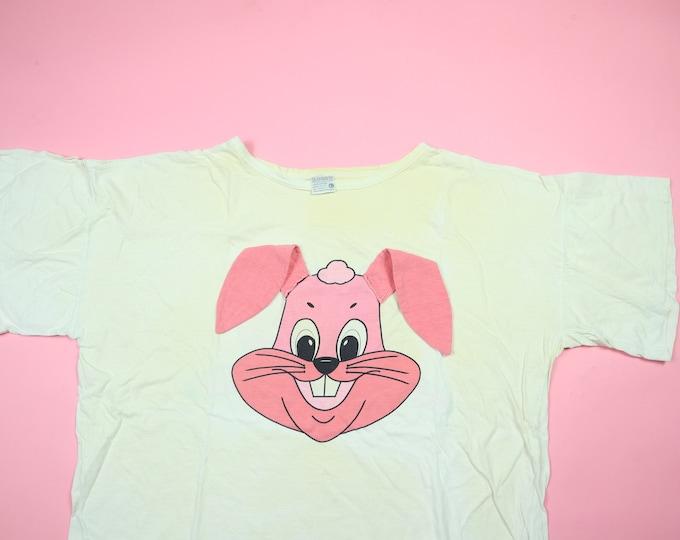 Cute Pink Bunny Floppy Ears & Tail Vintage Tshirt