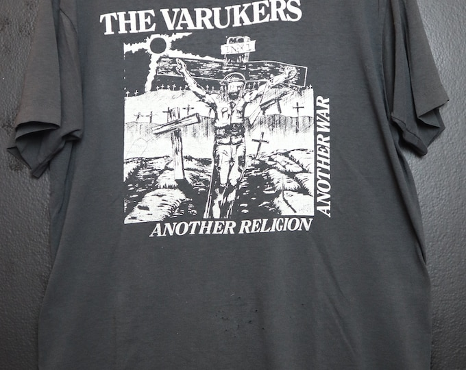 The Varukers Another Religion, Another War 1984 Vintage Tshirt