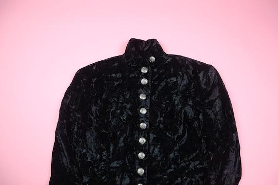 Le Chateau 1990's Vintage Crushed Velvet Jacket