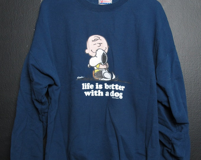 Snoopy Peanuts Life is Better WIth a Dog Sweater