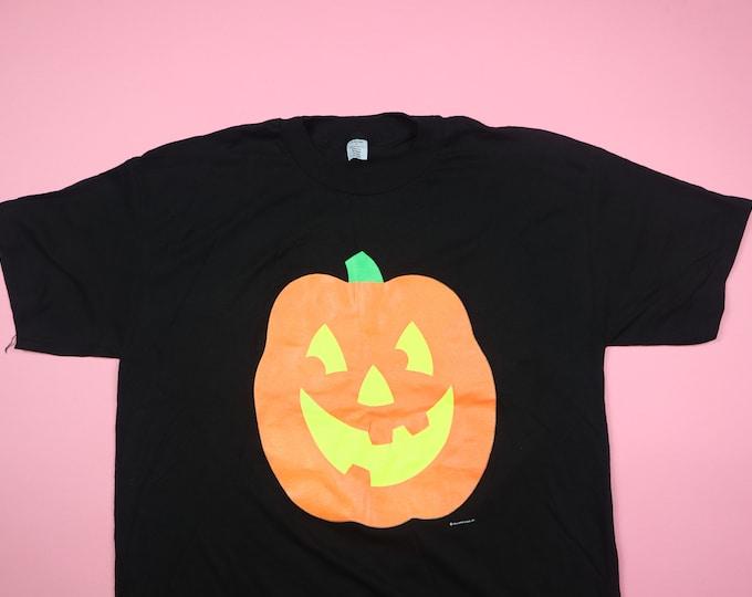 Halloween Pumpkin 1990s vintage Tshirt
