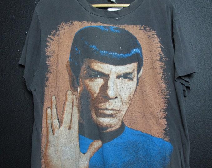 Star Trek Spok Live Long and Prosper 1991 Vintage Tshirt