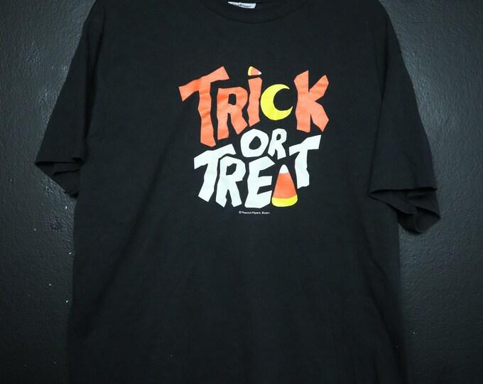 Halloween Trick or Treat Candy Corn 1990s vintage Tshirt