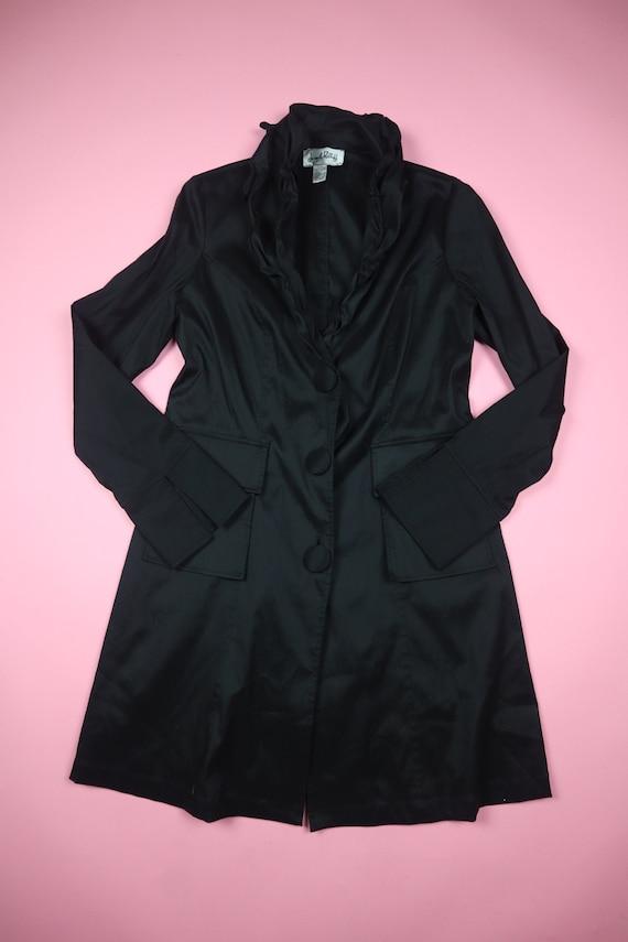 Joseph Ribkoff Ruffle Collar 1990's Vintage Jacket