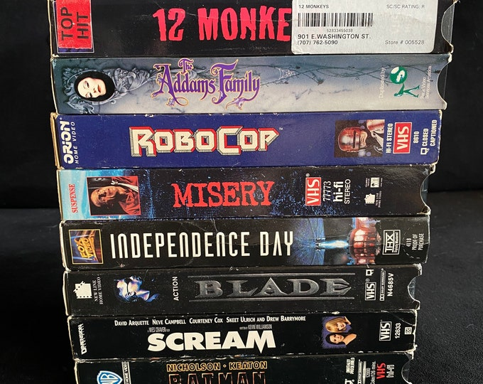 Choose One Or More! Horror 1980's 1990's Vintage Movie VHS