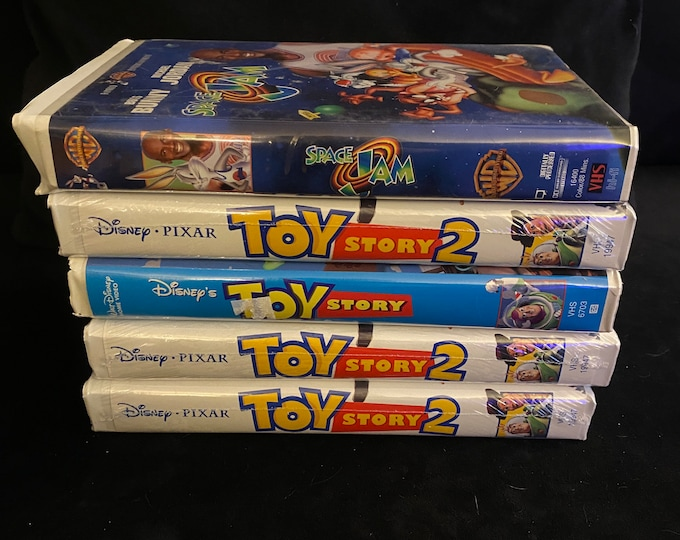 Choose One Or More! Disney Pixar Toy Story Space Jam Vintage Movie VHS