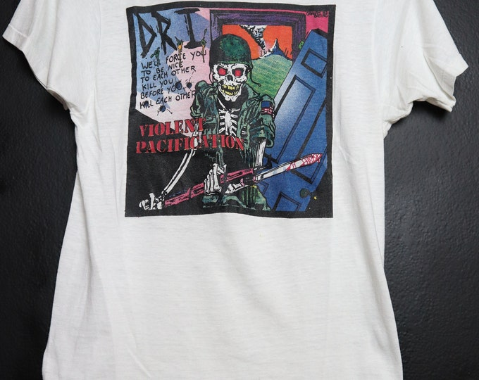 D.R.I Dirty Rotten Imbeciles Violent Pacification 1983 Vintage Shirt