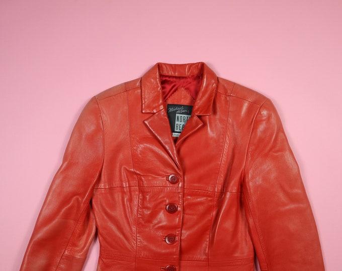 North Beach Leather - Michael Hoban 1980's Vintage Red Blazer Jacket