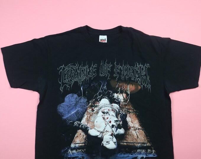 Cradle of Filth Life Is My Sacrifice RIP Positive 1999 Vintage TShirt