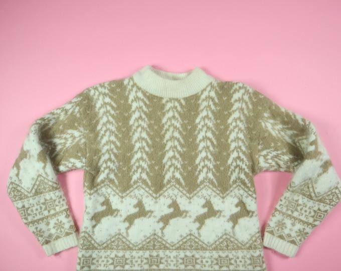 Rafaella Christmas Angora 1990s Vintage Sweater