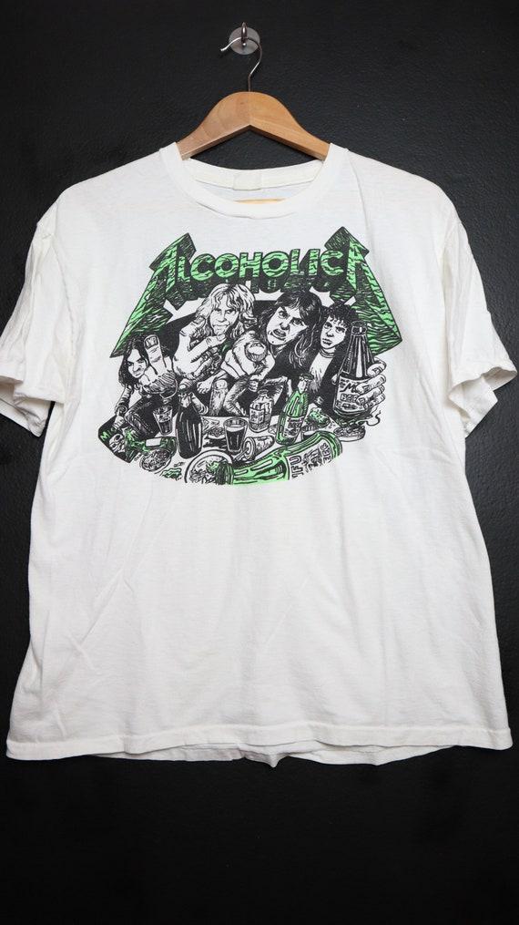 Metallica Alcoholica 1990's vintage Tshirt