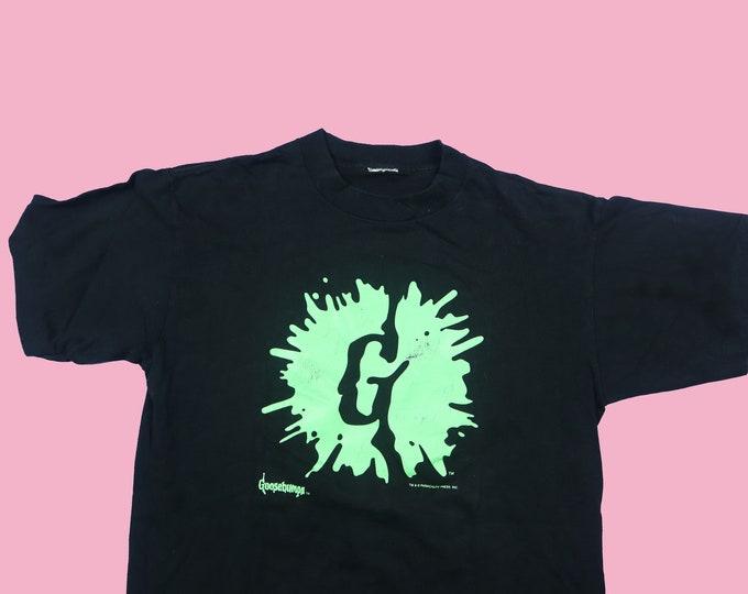 Goosebumps Drip Logo 1990's Vintage T-shirt