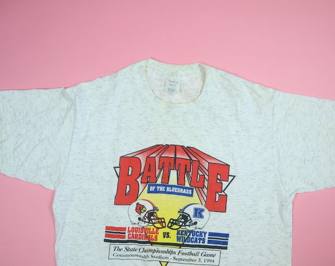Battle of the Bluegrass Football State Championship Louisville & Kentucky 1994 Vintage Tshirt