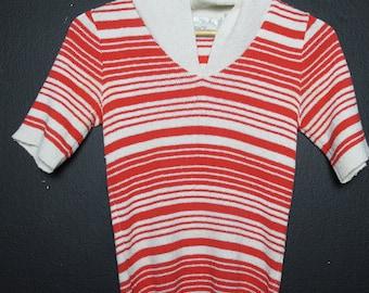 SAKS vintage striped sweater