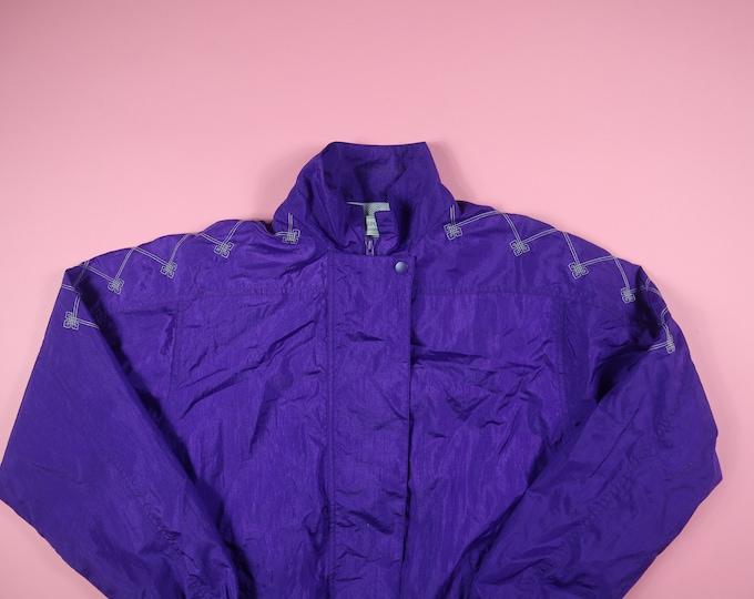 Purple Passports 1990's Vintage Nylon Jacket